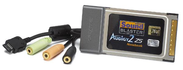 7.1 звуков. карта для PCMCIA порта (ноутбук), 24 Bit/96 kHz, EAX Advanced HD 4.0, Dolby цифровой EX и DTS-ES, THX.