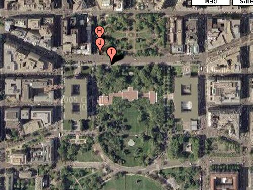 The White House according to Google Maps
