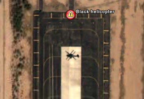 That lone black helicopter in full