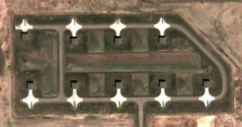 Minutemen missiles parked at Minot AFB, North Dakota