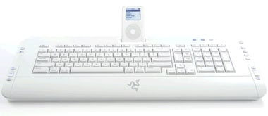 razer pro type ipod dock keyboard