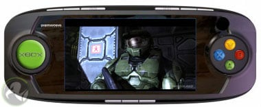 microsoft's xbox handheld (artist's impression - with apologies to Gizmondo)