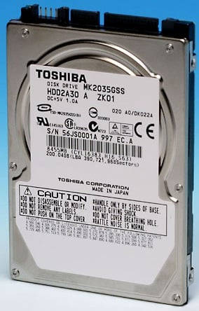 toshiba 2.5in 200gb hdd
