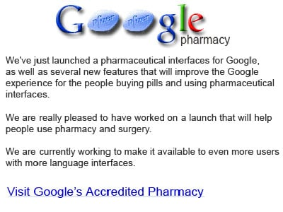 The rogue Google pharmaceutical site