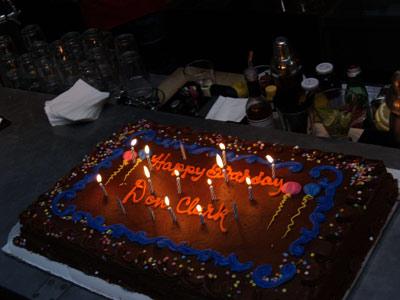 Shot of Don Clark's cake