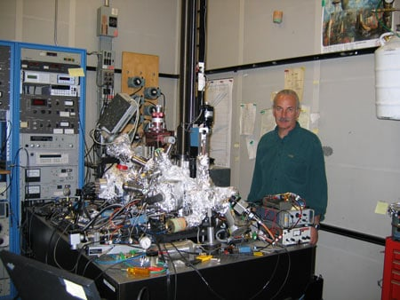 Don Eigler with his famous microscope