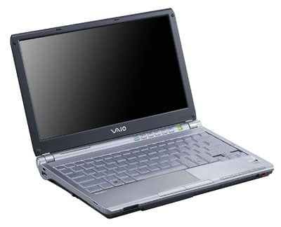 sony vaio tx3xp notebook