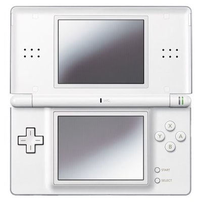 nintendo ds lite in white