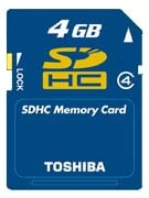 toshiba 4gb sdhc card