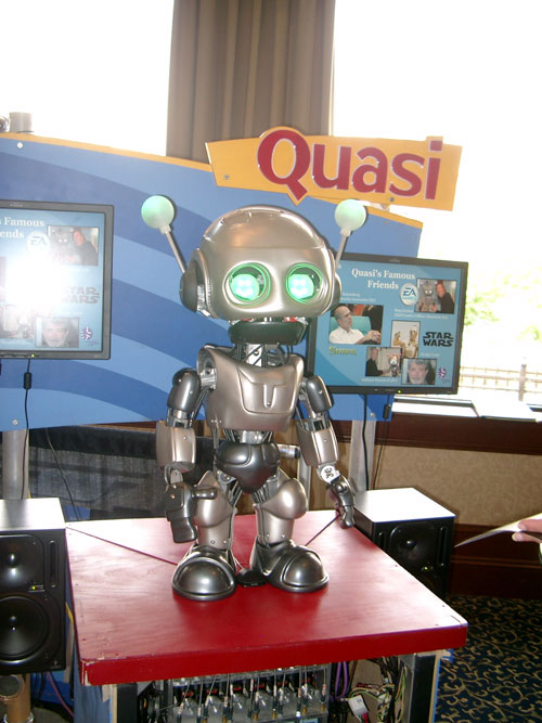 Shot of Quasi the robot
