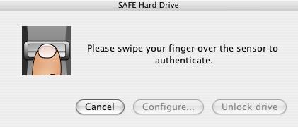 lacie safe biometric hard drive