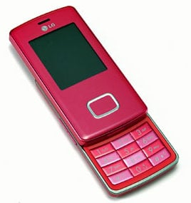 lg pink chocolote handset