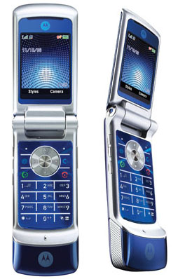 motorola krzr clamshell phone