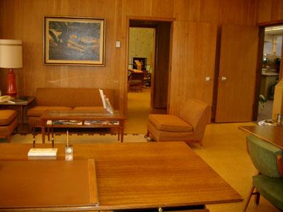 View from Packard's desk to Hewlett's desk
