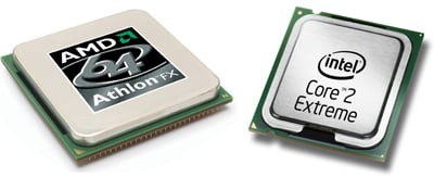 amd athlon 64 fx-62 and intel core 2 duo