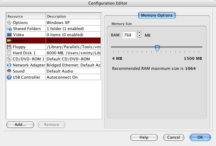 windows on mac - parallels desktop options