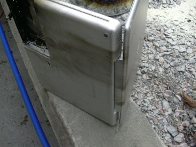 apple powerbook g4 fire damage - image courtesy of itavisen.no