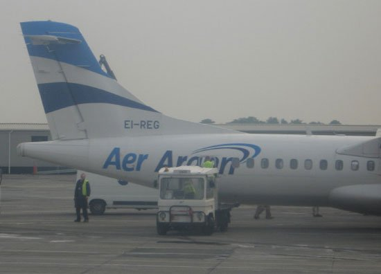 El Reg plane advert