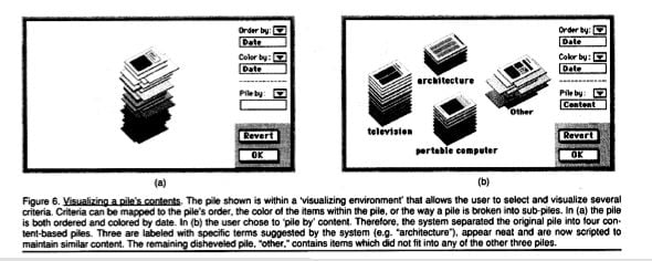 Apple's Piles from 1992: experiments with context