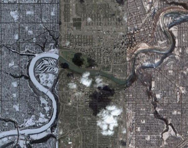 Summer and winter on Google Earth