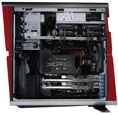 dell xps 700 gaming pc innards