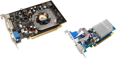 nvidia 7100 gs boards from Inno3D and Sparkle