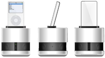 qdos genesis 360-degree ipod speaker