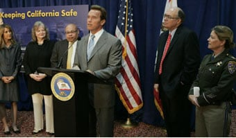 Arnold Schwarzenegger keeping California safe