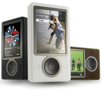 microsoft zune digital music players