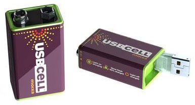 usbcell 9v usb-rechargeable battery