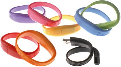 imation usb flash wristbands