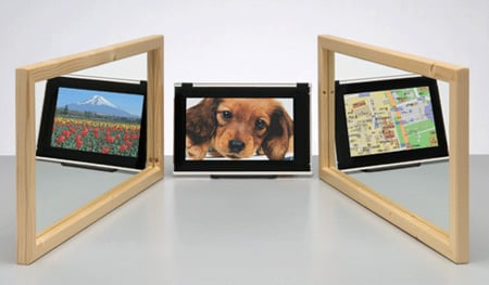 sharp three-way lcd panel