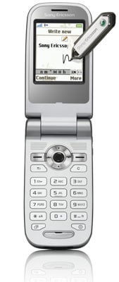 sony ericsson z558 text-recognition phone