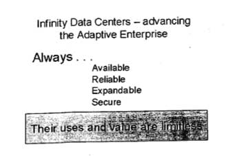 Shot of HP's fake Infinity Data Center slide