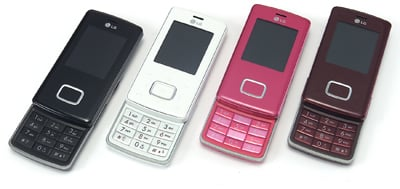 lg's four-colour chocolate phone line-up