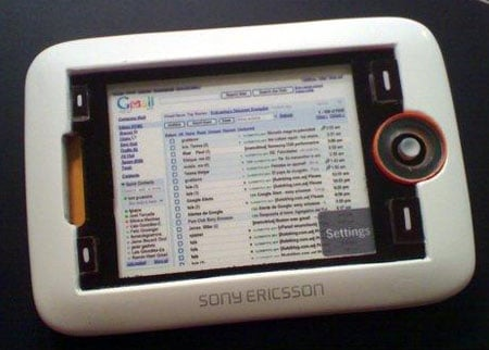 sony ericsson adriana dvb-h tablet phone - image courtesy UCSE