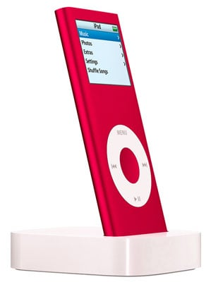 product red ipod nano - artist's impression