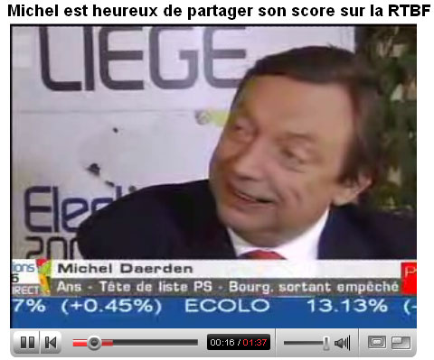 Michel Daerden in RTBF interview