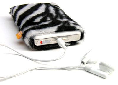 burning love zebra pouch