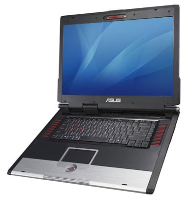 asus g2p gaming laptop - image courtesy noteb