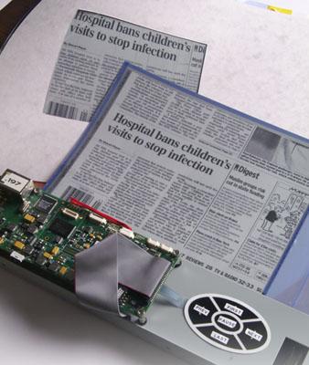 plastic logic's 150dpi e ink display