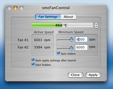 smcfancontrol for intel-based mobile macs