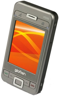 e-ten glofiish x500 world's thinnest pocketpc phone