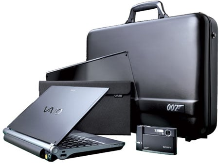 sony vaio 007 tx james bond bundle
