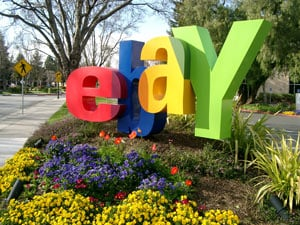 Ebay logo outside of the company's HQ