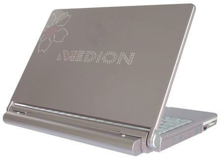 medion 2060 swarovski crystal embossed lady's laptop