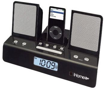 ihome's ih26 portable ipod alarm clock