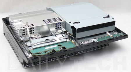 ps3 disassembly - image courtesy dailytech