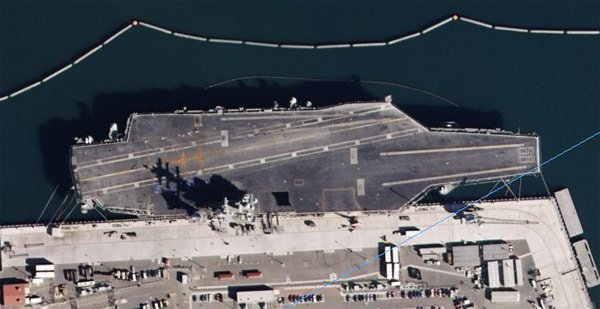 The USS Nimitz in San Diego