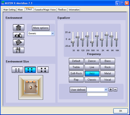 auzentech x-meridian sound card software